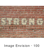 #100 Picture of a Strong Brick Wall by Kenny Adams