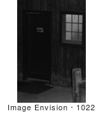 #1022 Black & White Picture of a Shadow of a Woman in a Bathroom by Kenny Adams