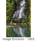 #1023 Picture of a Waterfall at the Oregon Caves by Kenny Adams