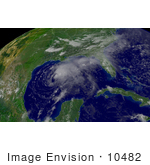 #10482 Picture Of Tropical Storm Claudette
