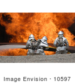 #10597 Picture Of Soldiers Fighting A Fire