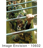 #10602 Picture Of A Soldier In An Obstacle Course