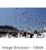 #10604 Picture Of Sailors Throwing Hats At A Graduation Ceremony