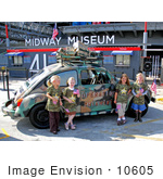 #10605 Picture Of Girl Scouts And The Operation Thin Mint Volkswagen Beetle