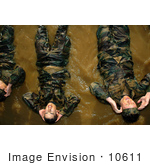#10611 Picture Of Soldiers Doing Bicycle Kicks In Water