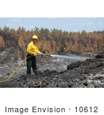 #10612 Picture Of A Man Putting Out A Fire