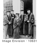#10631 Picture Of Maude Adams And Group In Graduation Gowns