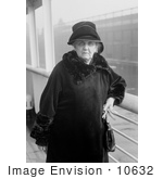 #10632 Picture Of Jane Addams In Coat And Hat