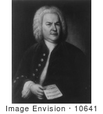 #10641 Picture Of Johann Sebastian Bach