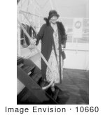 #10660 Picture Of Ethel Barrymore Posing On Ship Stairs