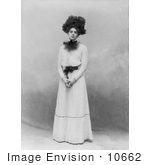 #10662 Picture Of Ethel Barrymore Standing In A Dress