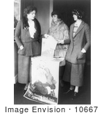 #10667 Picture Of Ethel Barrymore At A Christmas Seals Booth For Tuberculosis