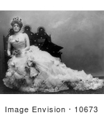 #10673 Picture Of Ethel Barrymore In A Wedding Gown