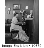 #10675 Picture Of Ethel Barrymore Playing A Piano