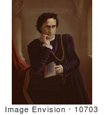 #10703 Picture Of Edwin Booth As Hamlet