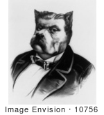 #10756 Picture of a James Fisk Bulldog Caricature by JVPD