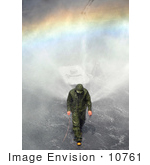#10761 Picture Of A Man Inspecting A Sprinkler System