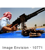 #10771 Picture Of An Iraqi Policeman With A Weapon