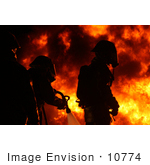 #10774 Picture Of Three Fire Fighters