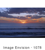 #1078 Photograph Of An Ocean Sunset Brookings Oregon