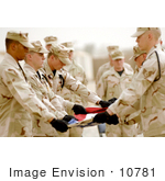 #10781 Picture Of Honor Guardsmen Folding A Flag