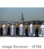 #10783 Picture Of Sailors Passing The Statue Of Liberty