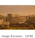 #10792 Picture Of The Roman Coliseum Flavian Amphitheatre