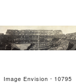 #10795 Picture Of The Roman Coliseum Interior