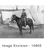 #10805 Picture of Calamity Jane on a Horse, Buffalo Bill's Wild West Show by JVPD