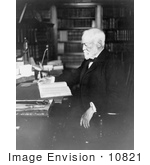 #10821 Picture Of Andrew Carnegie Reading