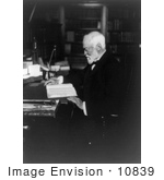 #10839 Picture Of Andrew Carnegie Reading At A Desk
