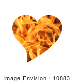 #10883 Picture Of A Flaming Heart