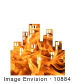 #10884 Picture Of A Flaming City