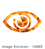 #10885 Picture Of A Flaming Eye