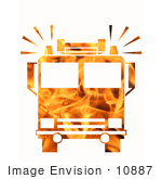 #10887 Picture Of A Flaming Fire Truck