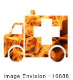 #10888 Picture Of A Flaming Ambulance