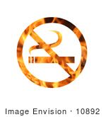 #10892 Picture Of A Flaming No Smoking Sign