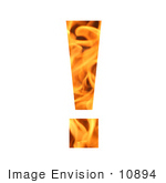 #10894 Picture Of A Flaming Exclamation Point