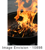 #10898 Picture Of Charcoal And Fire On A Grill