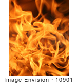 #10901 Picture of Flames From a Charcoal Grill by Jamie Voetsch