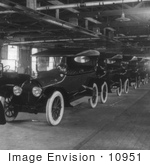 #10951 Picture Of Model T'S Completed In A Factory