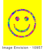 #10957 Picture of a Butterfly Patterned Smiley Face by Jamie Voetsch