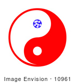 #10961 Picture Of An American Ying Yang