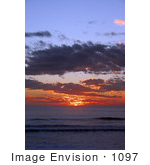 #1097 Photograph Of An Ocean Sunset Brookings Oregon