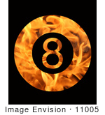 #11005 Picture of a Fiery 8 Ball by Jamie Voetsch