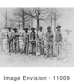 #11009 Picture of African American Convicts on a Chain Gang by JVPD
