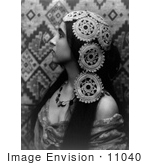 #11040 Picture Of A Woman In Profile Crochet In Her Hair
