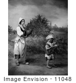 #11048 Picture Of A Woman And Child In Dutch Costumes