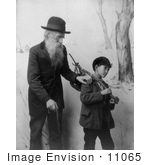 #11065 Picture Of A Senior Man With Child