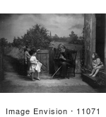 #11071 Picture Of A Man Playing An Accordian For Children